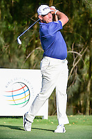 Lee Westwood (ENG) watches his tee shot on 9 during round 1 of the World Golf Championships, Mexico, Club De Golf Chapultepec, Mexico City, Mexico. 3/2/2017.<br /> Picture: Golffile | Ken Murray<br /> <br /> <br /> All photo usage must carry mandatory copyright credit (&copy; Golffile | Ken Murray)