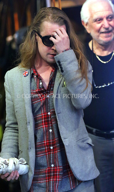 WWW.ACEPIXS.COM<br /> <br /> March 30 2016, New York City<br /> <br /> Reclusive actor Macaulay Culkin went shopping in the East Village on March 30 2016 in New York City<br /> <br /> By Line: Zelig Shaul/ACE Pictures<br /> <br /> <br /> ACE Pictures, Inc.<br /> tel: 646 769 0430<br /> Email: info@acepixs.com<br /> www.acepixs.com