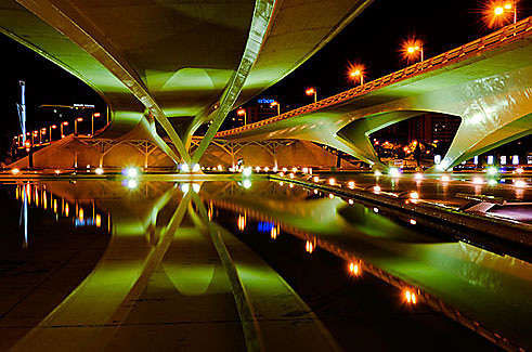 """""""Ciudad de las Artes y de las Ciencias"""", Valencia, Spain. Part of the series that won First Prize in """"Night Photography"""" category, and Second Prize in """"Architecture: Bridges"""" category, International Photography Awards, Non-professional."""