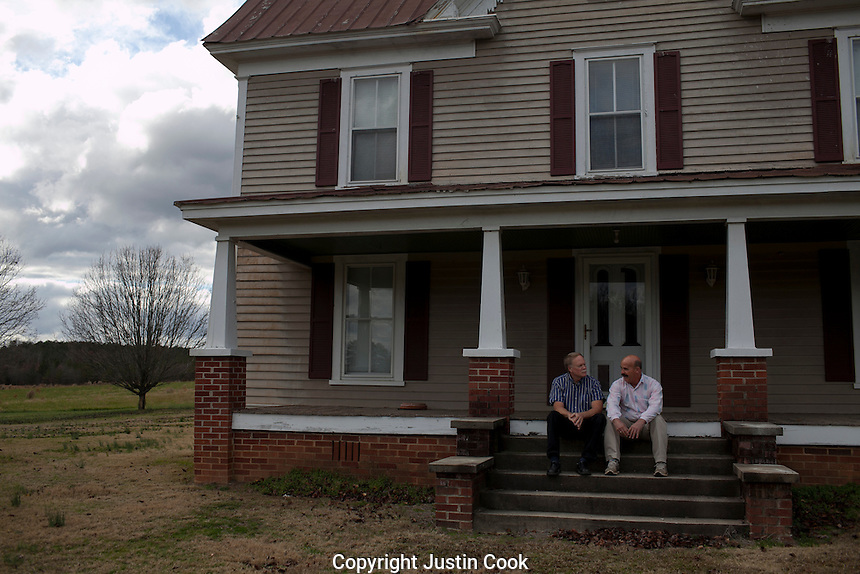 Tom Campbell and Hal Lindley, together for 17 years, Silk Hope, NC.