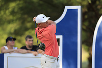 Alex Noren (SWE) on the 16th during the 1st round of the DP World Tour Championship, Jumeirah Golf Estates, Dubai, United Arab Emirates. 15/11/2018<br /> Picture: Golffile | Fran Caffrey<br /> <br /> <br /> All photo usage must carry mandatory copyright credit (© Golffile | Fran Caffrey)