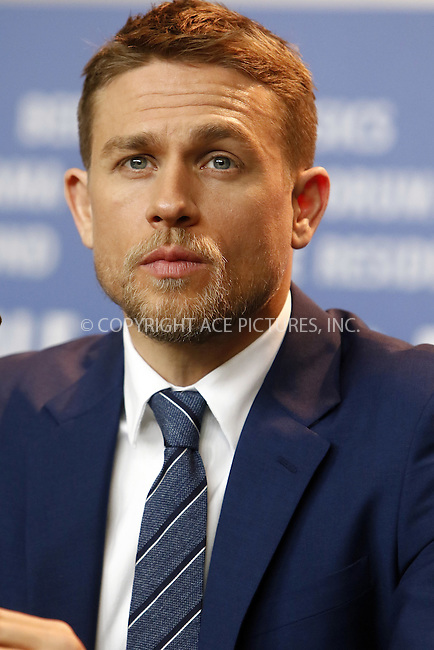 www.acepixs.com<br /> <br /> February 14 2017, Berlin<br /> <br /> Charlie Hunnam attending a photocall for 'The Lost City of Z' during the 67th International Berlin Film Festival, at Hotel Grand Hyatt on February 14 2017 in Berlin<br /> <br /> By Line: Famous/ACE Pictures<br /> <br /> <br /> ACE Pictures Inc<br /> Tel: 6467670430<br /> Email: info@acepixs.com<br /> www.acepixs.com