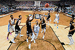 GLENDALE, AZ - APRIL 03: Nate Britt #0 of the North Carolina Tar Heels shoots the ball during the 2017 NCAA Men's Final Four National Championship game against the Gonzaga Bulldogs at University of Phoenix Stadium on April 3, 2017 in Glendale, Arizona.  (Photo by Chris Steppig/NCAA Photos via Getty Images)