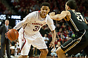 February 23, 2014: Shavon Shields (31) of the Nebraska Cornhuskers dribbling against Kendall Stephens (21) of the Purdue Boilermakers during the second half at the Pinnacle Bank Arena, Lincoln, NE. Nebraska 76 Purdue 57.