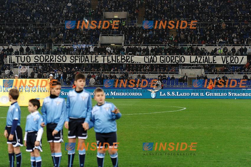 Striscione tifosi Lazio <br /> Roma 04-12-2015 Stadio Olimpico Football Calcio 2015/2016 Serie A Lazio - Juventus Foto Andrea Staccioli / Insidefoto