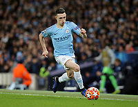 Manchester City's Phil Foden<br /> <br /> Photographer Rich Linley/CameraSport<br /> <br /> UEFA Champions League Round of 16 Second Leg - Manchester City v FC Schalke 04 - Tuesday 12th March 2019 - The Etihad - Manchester<br />  <br /> World Copyright © 2018 CameraSport. All rights reserved. 43 Linden Ave. Countesthorpe. Leicester. England. LE8 5PG - Tel: +44 (0) 116 277 4147 - admin@camerasport.com - www.camerasport.com