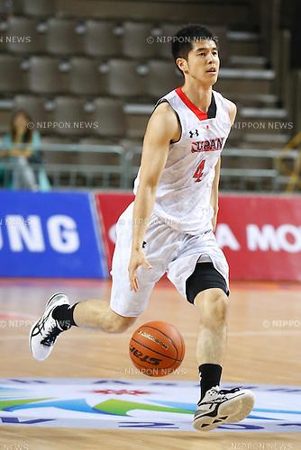 Takumi Ishizaki (JPN), <br /> SEPTEMBER 25, 2014 - Basketball : <br /> Men's Preliminary <br /> between Japan 71-72 Qatar <br /> at Samsan World Gymnasium <br /> during the 2014 Incheon Asian Games in Incheon, South Korea. <br /> (Photo by AFLO SPORT)