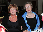 Sheila Byrne and Finola Holly at a dinner in honour of retired firemen held in the Glenside hotel. Photo: Colin Bell/pressphotos.ie