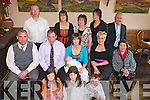 Pictures at the Christening Party of BabyMairtin Casey at Kate Brownes, Ardfert on Sunday Were from Sitting at front: Chloe and Amy Casey.Middle Row: Johnny Curran, Martin Michelle, Mairtin (FADA OVER  THE A AND HE SECOND I ) Elaine and Marie Casey. .Back Row: Jimmy Casey, Alletta and Sheila  Hannon, Charlene Curran TJ Hannon.