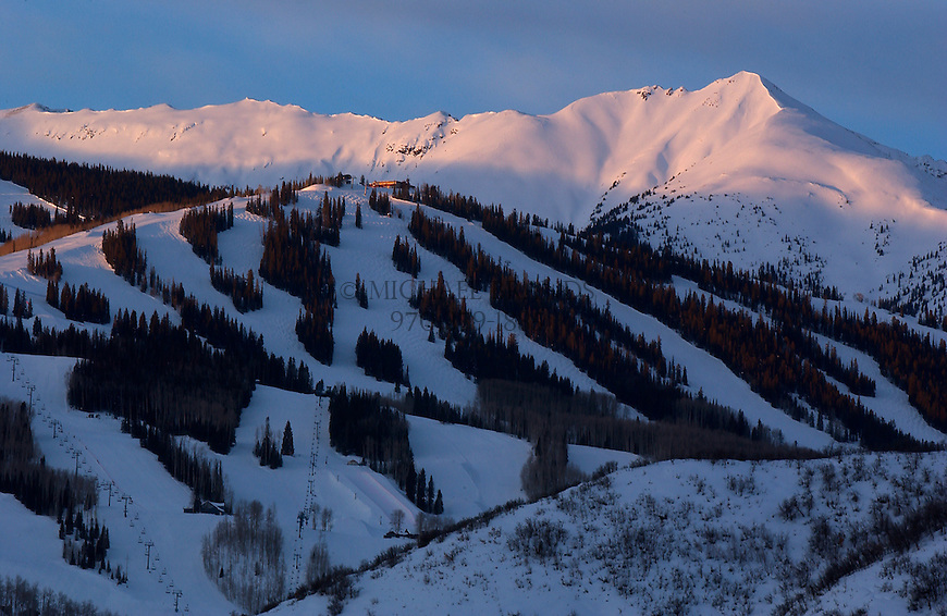 Snowmass Village and ski area near Aspen, Colorado. © Michael Brands. 970-379-1885.
