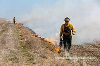 63863-02804 Prescribed Burn by IDNR Prairie Ridge State Natural Area Marion Co. IL