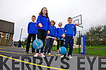 Ref Sinead..Sixth class pupils from Caherdaniel NS at the opening of their new basketball court on Friday last pictured l-r; Joseph Fenton,Asha Fayen, Lea Turner, Hannah O'Leary & Rory Galvin.