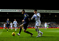 Derby County's Mason Mount holds off the challenge from Leeds United's Pablo Hernandez<br /> <br /> Photographer Alex Dodd/CameraSport<br /> <br /> The EFL Sky Bet Championship -  Leeds United v Derby County - Friday 11th January 2019 - Elland Road - Leeds<br /> <br /> World Copyright &copy; 2019 CameraSport. All rights reserved. 43 Linden Ave. Countesthorpe. Leicester. England. LE8 5PG - Tel: +44 (0) 116 277 4147 - admin@camerasport.com - www.camerasport.com