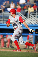 August 3rd 2008:  First baseman Jim Murphy of the Williamsport Crosscutters, Class-A affiliate of the Philadelphia Phillies, during a game at Dwyer Stadium in Batavia, NY.  Photo by:  Mike Janes/Four Seam Images