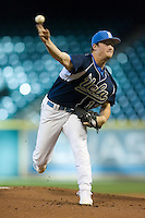 Starting pitcher Gerrit Cole #12 of the UCLA Bruins in action versus the Baylor Bears  in the 2009 Houston College Classic at Minute Maid Park February 28, 2009 in Houston, TX.  The Bears defeated the Bruins 5-1. (Photo by Brian Westerholt / Four Seam Images)
