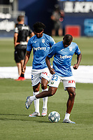 12th July 2020; Estadio Municipal de Butarque, Madrid, Spain; La Liga Football, Club Deportivo Leganes versus Valencia; Ibrahim Amadou (CD Leganes)  Pre-match warm-up