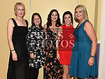 Sandra O'Brien, Darina Nugent, Maria Devlin, Linda Sheridan and Carol Brodigan at the Team Carrie Awards night in The Grove hotel Dunleer. Photo:Colin Bell/pressphotos.ie