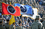 November 4, 2017:  The Air Force Academy Association of Graduates' flags are part of the Color Guard in Falcon Stadium prior to the NCAA Football game between the Army West Point Black Knights and the Air Force Academy Falcons at Falcon Stadium, United States Air Force Academy, Colorado Springs, Colorado.  Army West Point defeats Air Force 21-0.