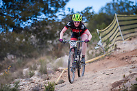 Chelva, SPAIN - MARCH 6: Kerry Macphee during Spanish Open BTT XCO on March 6, 2016 in Chelva, Spain