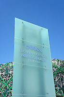 Sign of the new Gran Museo del Mundo Maya museum in Merida, Yucatan, Mexico      .