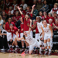 STANFORD, CA - March 26, 2013: Stanford Cardinal's bench during a second round game of the 2013 NCAA Division I Championship  versus Michigan at Maples Pavilion in Stanford, California.  The Cardinal defeated the Wolverines 73-40.
