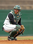 8 April 2007: University of Vermont Catamounts catcher Jeff Nolet, a Sophomore from Concord, MA, looks towards the dugout during a snowy game against the New York Institute of Technology Bears at Historic Centennial Field, in Burlington, Vermont. The Bears defeated the Catamounts 3-0 in the first game of a double-header...Mandatory Photo Credit: Ed Wolfstein Photo