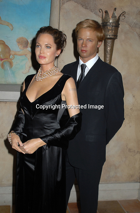Angelina Jolie and Brad Pitt Wax Figures..at the unveiling of the wax figure on February 21, 2007 ..at Madame Tussauds New York, ..Robin Platzer, Twin Images