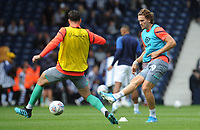 Blackburn Rovers' Sam Gallagher during the pre-match warm-up <br /> <br /> Photographer Kevin Barnes/CameraSport<br /> <br /> The EFL Sky Bet Championship - West Bromwich Albion v Blackburn Rovers - Saturday 31st August 2019 - The Hawthorns - West Bromwich<br /> <br /> World Copyright © 2019 CameraSport. All rights reserved. 43 Linden Ave. Countesthorpe. Leicester. England. LE8 5PG - Tel: +44 (0) 116 277 4147 - admin@camerasport.com - www.camerasport.com