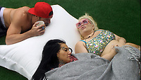 Celebrity Big Brother 2017<br /> Chad Johnson, Jemma Lucy and Trisha Paytas.<br /> *Editorial Use Only*<br /> CAP/KFS<br /> Image supplied by Capital Pictures