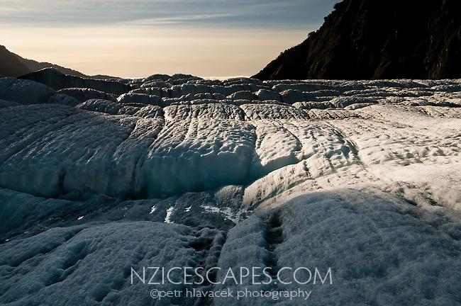 Crevasses on Franz Josef Glacier, Westland National Park, West Coast, New Zealand
