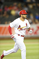 ***Temporary Unedited Reference File***Memphis Redbirds center fielder Tommy Pham (27), on rehab assignment from the St. Louis Cardinals during a game against the Omaha Storm Chasers on May 5, 2016 at AutoZone Park in Memphis, Tennessee.  Omaha defeated Memphis 5-3.  (Mike Janes/Four Seam Images)