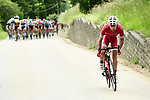 Nicolas Edet (FRA) Cofidis pulls clear of the peleton during Stage 4 of the 2018 Criterium du Dauphine 2018 running 181km from Chazey sur Ain to Lans en Vercors, France. 7th June 2018.<br /> Picture: ASO/Alex Broadway | Cyclefile<br /> <br /> <br /> All photos usage must carry mandatory copyright credit (&copy; Cyclefile | ASO/Alex Broadway)