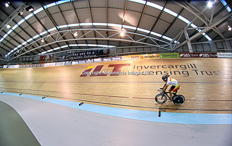 Stadium Southland  Velodrome, Age Group Track Cycling Championships, Invercargill, New Zealand, Tuesday, February 26, 2013. Credit:NINZ / Dianne Manson.