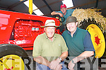 All ready: Dan Hartnett and Bobby Stack with Paddy Kennelly on the shiny red David Brown 990 are getting geared up for the Knockanure Vintage and Family Day this Sunday, August 17th.   Copyright Kerry's Eye 2008