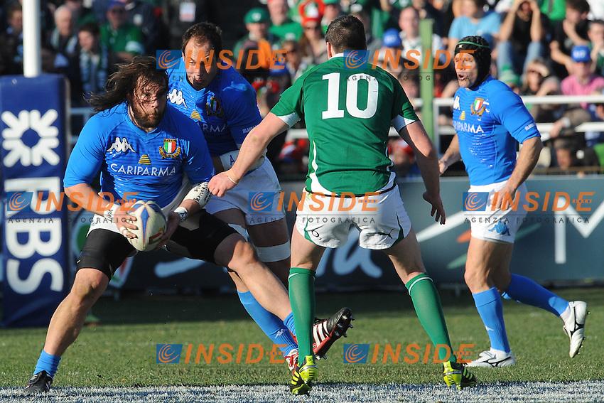 Martin Castrogiovanni (Italia) Jonathan Sexton (Irlanda)<br /> Italia vs Irlanda 11-13<br /> Six Nations Rugby<br /> Stadio Flaminio, Roma, 05/02/2011<br /> Photo Antonietta Baldassarre Insidefoto