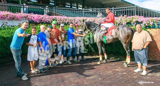 Motin winning at Delaware Park on 8/11/15