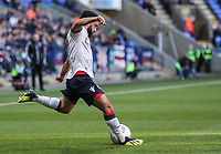 Bolton Wanderers' Erhun Oztumer crosses<br /> <br /> Photographer Andrew Kearns/CameraSport<br /> <br /> The EFL Sky Bet Championship - Bolton Wanderers v Blackburn Rovers - Saturday 6th October 2018 - University of Bolton Stadium - Bolton<br /> <br /> World Copyright &copy; 2018 CameraSport. All rights reserved. 43 Linden Ave. Countesthorpe. Leicester. England. LE8 5PG - Tel: +44 (0) 116 277 4147 - admin@camerasport.com - www.camerasport.com