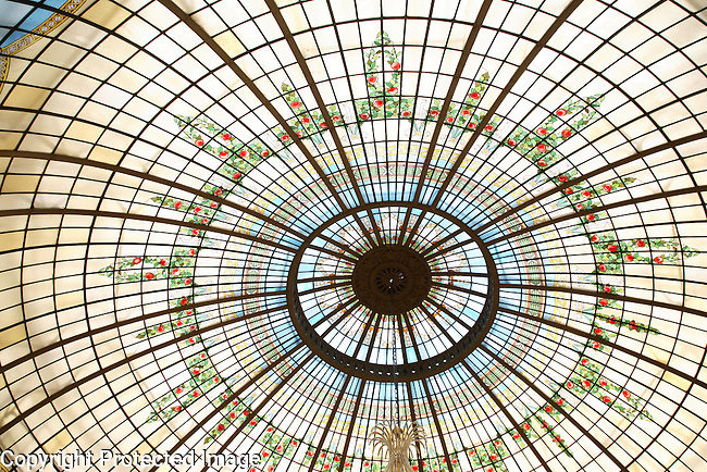 Stained Glass Dome, Palace Hotel, Madrid, Spain