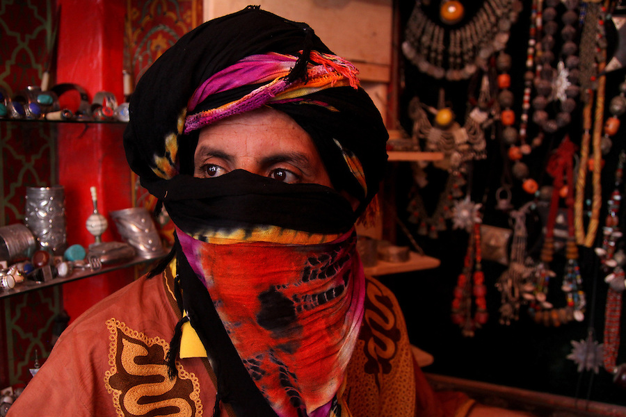 A Berber man is photographed in Essaouira, Morocco.