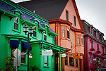 These colorful buildings are a big part of the charm of Lunenburg, Nova Scotia.  It is one of the most scenic harbor towns I've visited.