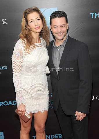 New York, NY- October 13: Alysia Reiner and David Allan Basche attends the Summit Entertainment and Thunder Road Pictures New York screening of John Wick at the Regal Union Square on October 13, 2014 in New York City. Credit: John Palmer/MediaPunch
