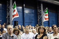 Sesto San Giovanni (Milan) 15-09-2013: people attend at the meeting with Matteo Renzi, major of Florence, during the Festa Democratica in Sesto San Giovannni, Milan. Renzi was running for the leadership of the Democratic Party. <br /> <br /> Sesto San Giovanni (Milan) 15-09-2013: gente partecipa all'incontro con Matteo Renzi durante la festa Democratica a Sesto San Giovanni (Milano)