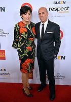 BEVERLY HILLS, CA. October 21, 2016: Dreamworks co-founder Jeffrey Katzenberg &amp; wife Marilyn at the 2016 GLSEN Respect Awards, honoring leaders iin the fight against bullying &amp; discrimination in schools, at the Beverly Wilshire Hotel.<br /> Picture: Paul Smith/Featureflash/SilverHub 0208 004 5359/ 07711 972644 Editors@silverhubmedia.com