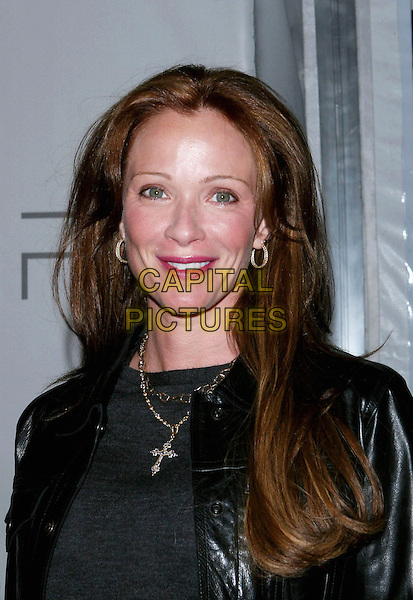 LAUREN HOLLY.PSP North American Launch Party held at the Pacific Design Center, West Hollywood, CA..March 14th, 2005.Photo Credit: Jacqui Wong/AdMedia.headshot portrait hoop earrings cross crucifix.www.capitalpictures.com.sales@capitalpictures.com.© Capital Pictures.