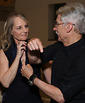 """Helen Hunt and David Garrison attends the Opening Night performance afterparty for ENCORES! Off-Center production of """"Working - A Musical""""  at New York City Center on June 26, 2019 in New York City."""