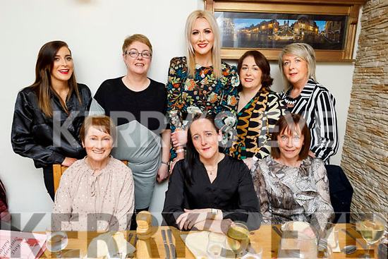 Karla Griffin from Camp celebrating her birthday in Bella Bia on Saturday. <br /> Seated l to r: Hannah O'Regan, Karla Griffin and Deirdre O'Brien.<br /> Standing l to r: Stephanie Fitzell, Aine Quinn, Sharon Sheehan, Debbie Moriarty and  Ann O'Sullivan.