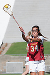 Los Angeles, CA 04/22/16 - Eggy Plastaras (USC #34) in action during the NCAA Stanford-USC Division 1 women lacrosse game at the Los Angeles Memorial Coliseum.  USC defeated Stanford 10-9/