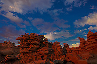 746000060 a clearing summer thunderstorm at sunset over the hoodoos in fantasy canyon blm lands utah united states
