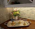 """A corner of the  butler's pantry located off the kitchen. """"At Home"""" with Margaret Lowery in her Lake Christine Drive home in Belleville, IL on July 24, 2019. <br /> Photo by Tim Vizer"""