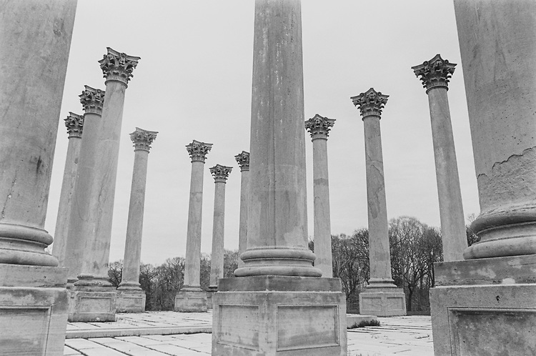 The pillars of National Arboretum, on March 08, 1993. (Photo by Laura Patterson/CQ Roll Call via Getty Images)